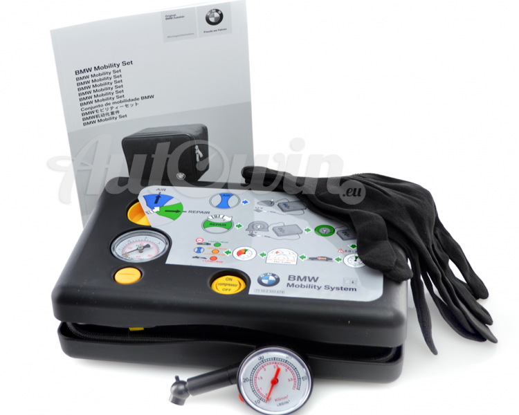 Bmw all series mobility kit tire repair kit compresor for Mercedes benz car care kit