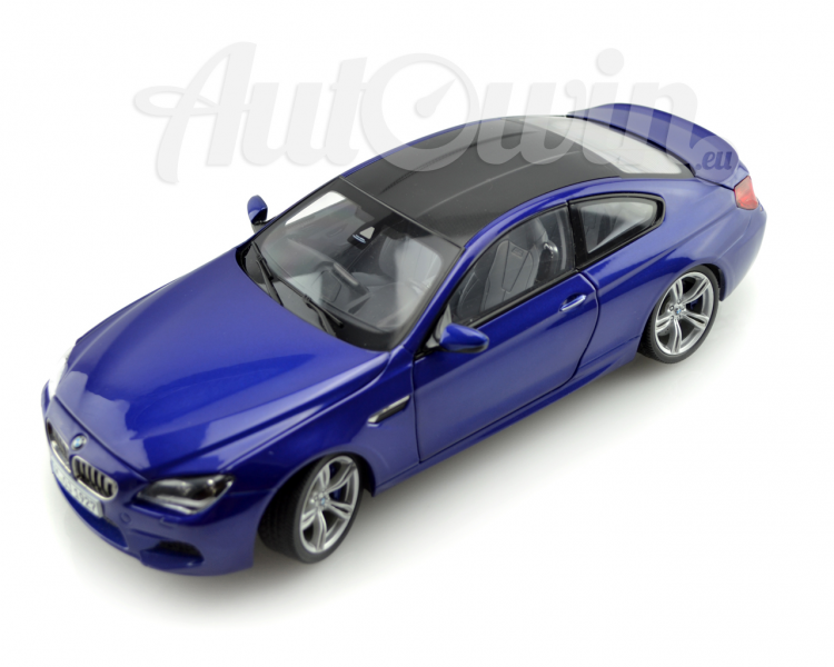 BMW M6 SERIES COUPE F13 MINIATURES 1 : 18 BLUE ORIGINAL OEM