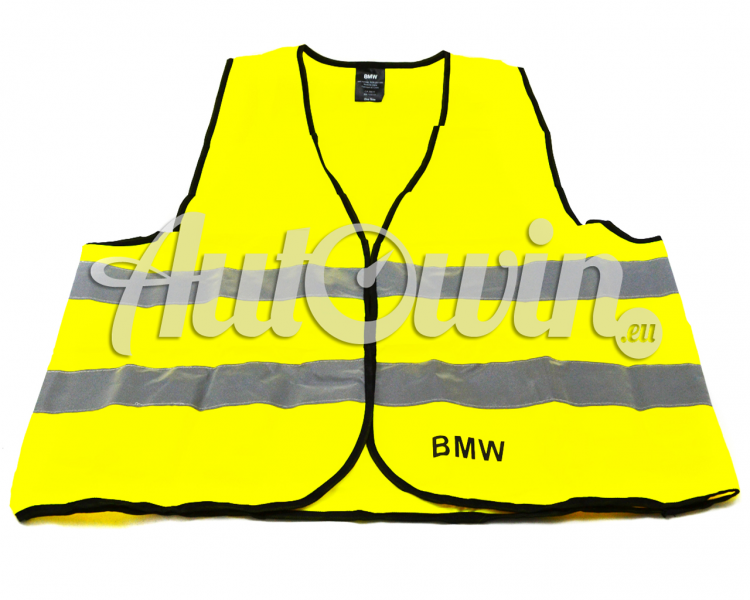 BMW Genuine Warning Vest 2PCS Warning Jacket Safety European standard yellow