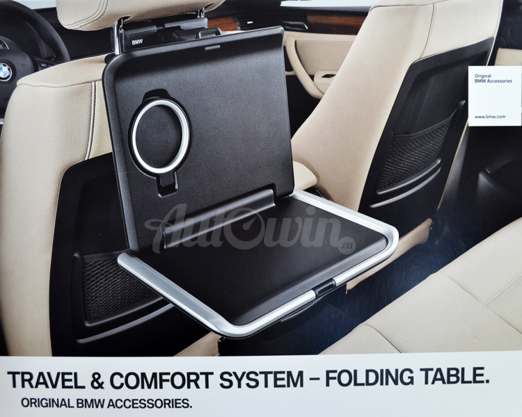 BMW Genuine In Car Retrofit Storage Folding Seat Tray Table Black