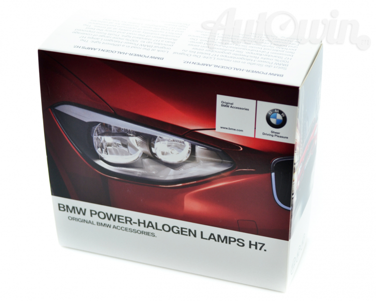 bmw genuine power halogen h7 12v 55w bulbs 2pcs. Black Bedroom Furniture Sets. Home Design Ideas