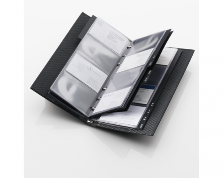 Business card folder amg mercedes benz for Mercedes benz business cards
