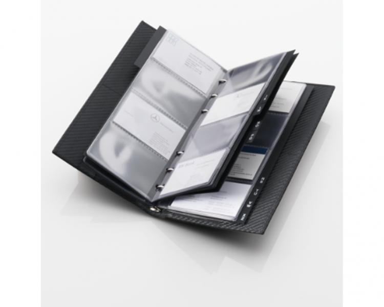 Business card folder amg mercedes benz for Mercedes benz card